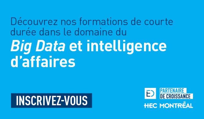 Formation École des dirigeants - Big data et intelligence d'affaires